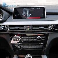 Velocità 1 set in fibra di carbonio Centro Console Aria Condizionata Presa Trim Striscia per BMW f15 f16 x5 x6 2014- 2017 auto-styling