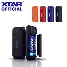 XTAR 18650 güç banka şarj cihazı PB2 3.6V/3.7V Li ion/IMR/INR/ICR 18650 pil taşınabilir USB LED pil şarj cihazı DIY güç bankası