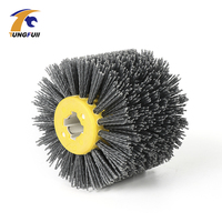120 100 20mm Abrasives Wire Drawing Wheel P80 P120 P240 Drum Brush Burnishing Polishing Wheel Wooden