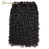 Перуанский дважды обращается Фунми пучки волос Flexi кудри человеческих Волосы remy странный вьющихся волос, плетение Pixie Curl 3 шт. натуральный Цв