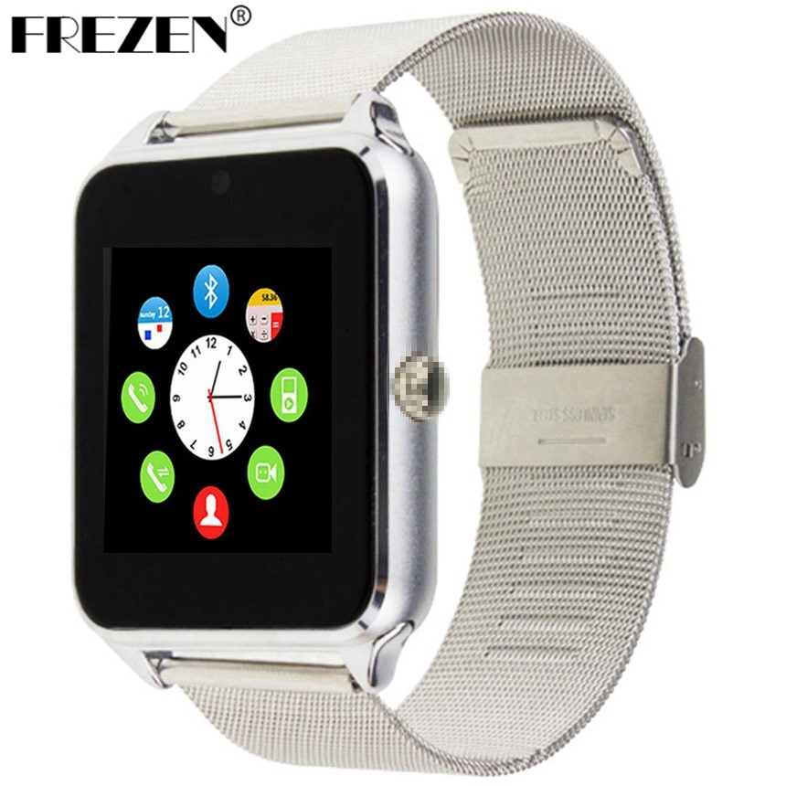 FREZEN Smart Watch GT08 Clock With Sim Card Slot Push Message Bluetooth Connectivity Android Phone Smartwatch GT08 PK DZ09 U8 V8