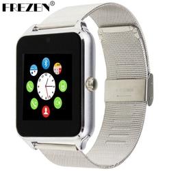 FREZEN montre intelligente GT08 horloge avec fente pour carte Sim Message poussoir connectivité Bluetooth téléphone Android Smartwatch GT08 PK DZ09 U8 V8