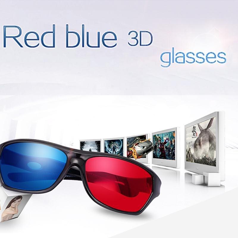 <font><b>Fashion</b></font> 3D Sunglasses Red Blue lunette <font><b>Plastic</b></font> Frame Movie Oculos 3D Movies <font><b>Anaglyph</b></font> <font><b>glasses</b></font>