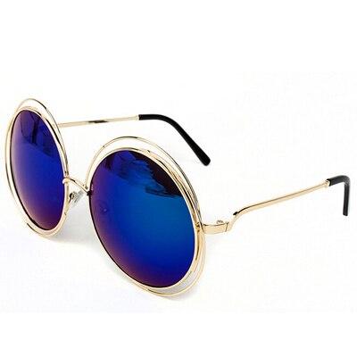 ralferty oversized gold wire frame sunglasses women brand designer female mirrorgradient shades round