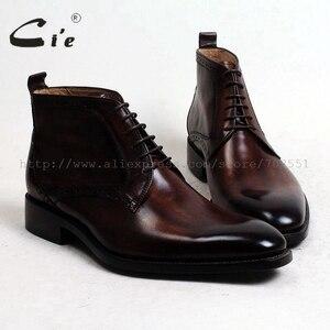 Image 1 - Cie/кожаные ботинки до щиколотки с закругленным мысом, 100% натуральная кожа, коричневый с оттенком патины, кожаная подошва ручной работы со шнуровкой, мужские ботинки, A97