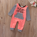 Toddler Infant Baby Boy Girl Kids long sleeve Romper Jumpsuit striped baby cloth Clothes Outfit