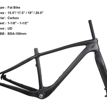 Полностью карбоновый UD матовый горный велосипед MTB BSA Fatbike рама и вилка