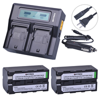 2pc 5200mAh NP F750 NP F770 NP F750 NP F770 Battery Ultra Fast 3X Faster Dual