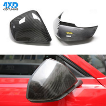 For Ford Mustang Carbon Fiber Mirror Cover Rear View Side Mirror Cover 2014 2015 2016 Add on style carbon fiber side wing mirror covers for porsche panamera 970 2010 2014 2015 2016 add on style rear view mirror cover only lhd
