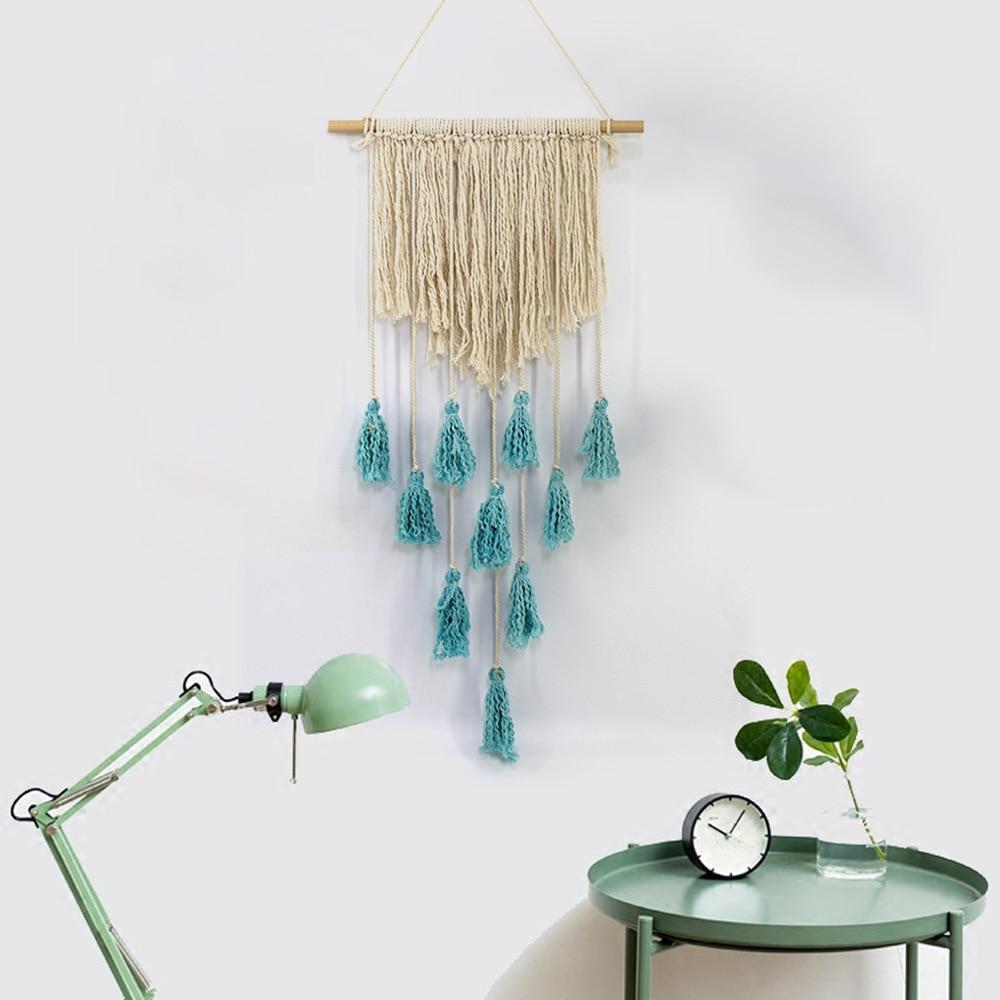 5 Bohemian Home Decor Ideas Rustic Folk Weddings: Cotton Wall Tapestry Romantic Home Decor Knitting Heart