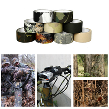 10m Adhesive Cotton Bionic Tape Waterproof Camouflage Wraps Outdoor Hiking Camping Utility Camo Military Hunting Accessorie
