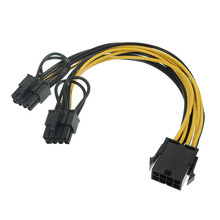 PCI Express Graphics Card Connector PC Power Supply Cable CPU 8pin to 2 PCIE 8(6+2)pin Cable Power Splitter for BTC Miner Mining
