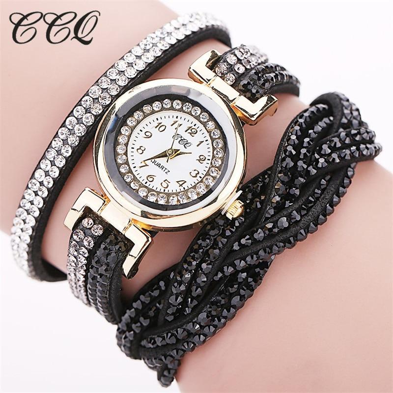 Fashion Casual Quartz Women - Watch Braided Leather Bracelet Watch Gift 3
