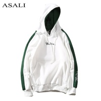 2017 Autumn White Hoodies With Hat Men Big Pocket Street Autumn Fashion Casual Hiphop Clothing Hoody