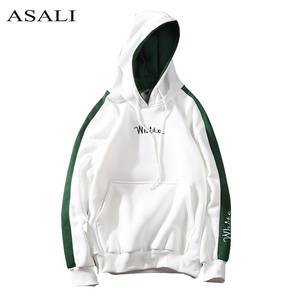 ASALI White Men Street Casual Pullover Hoody Clothing