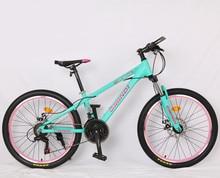 Высокое качество 24 дюймов горный велосипед Алюминий сплава рама 21 скорость велосипед двойное механическое дисковый тормоз Shimano Переключатель скоростей