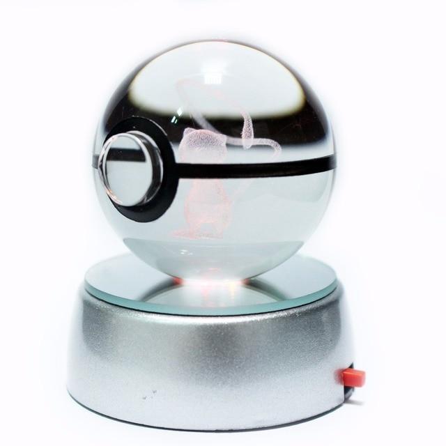 מכירה לוהטת 2 אינץ 50mm קריסטל זכוכית Pokeball Creative חג המולד מתנות לילדים