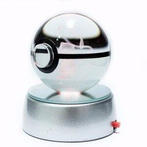 Image 1 - Sıcak satış 2 inç 50mm kristal cam Pokeball yaratıcı yılbaşı hediyeleri çocuklar için