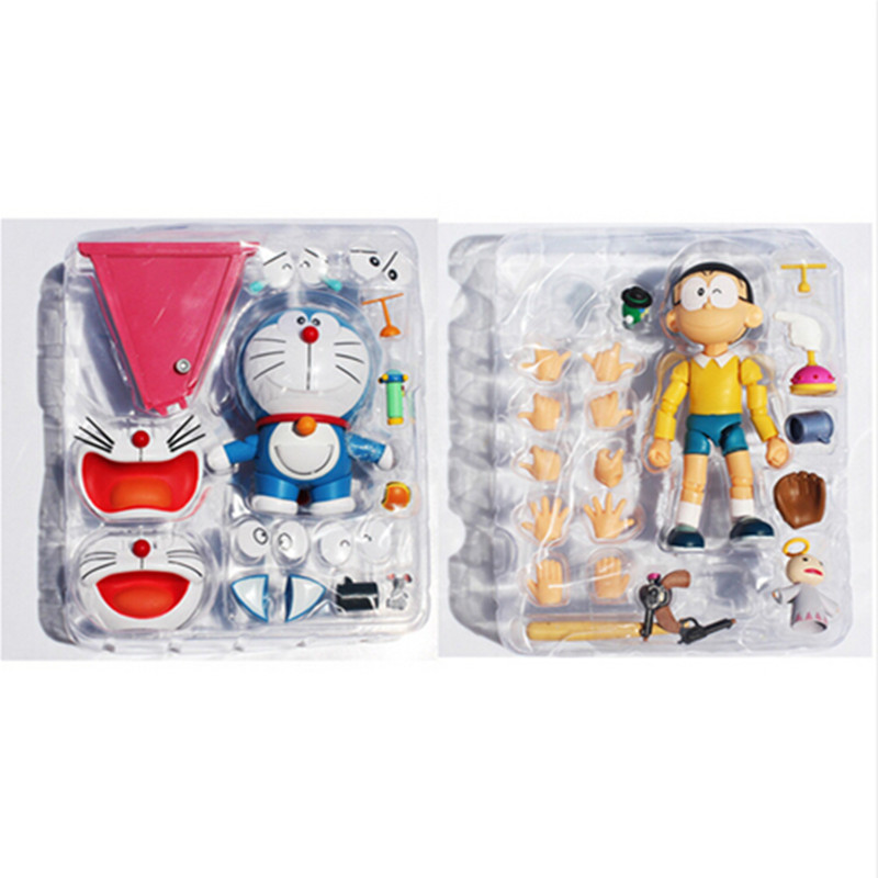 Japan Cartoon Doraemon Nobi Nobita Face Eye Changeable PVC Action Figure Toy 10CM Approx Retail Free Shipping