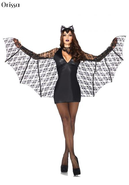 women 2016 sexy halloween costumes hot sale bat womens halloween costume adult
