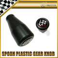 Car-styling Para Honda Cuchara Resina Deportes 5 Velocidades Manual Gear Shift Knob Palo Para Civic Accord CRV JAZZ AJUSTE