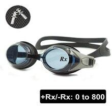 Оптические очки для плавания+ Rx-Rx очки для плавания по рецепту, очки для взрослых и детей, разные силы, каждый глаз с бесплатными ушными затычками