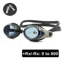 광학 수영 고글 + Rx-Rx 처방 수영 안경 성인 어린이 다른 강도 각 눈 무료