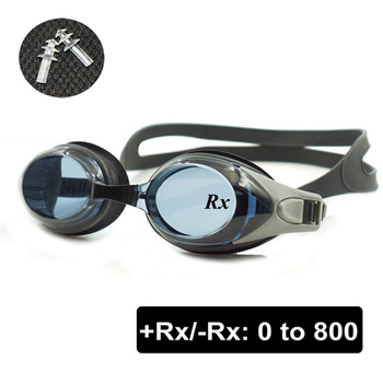 optical +rx -rx prescription swimming glasses for adults and children with free ear plugs