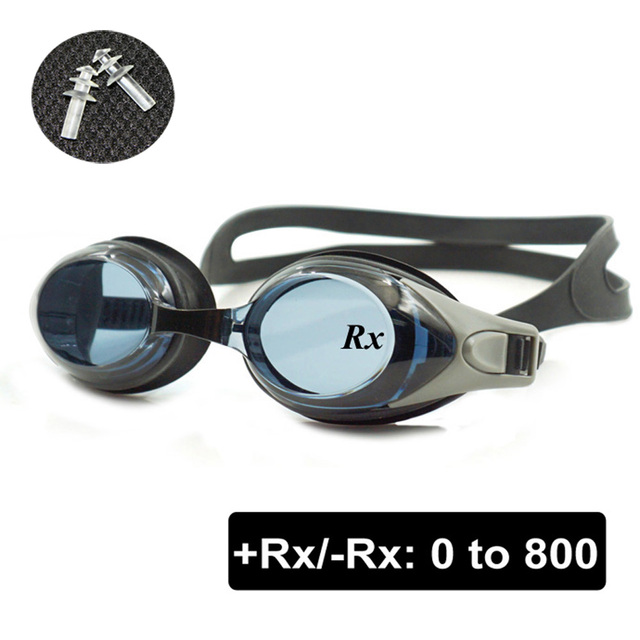 fa242406cc9 Optical Swim Goggles +Rx -Rx Prescription Swimming Glasses Adults Children  Different Strength Each Eye with Free Ear Plugs
