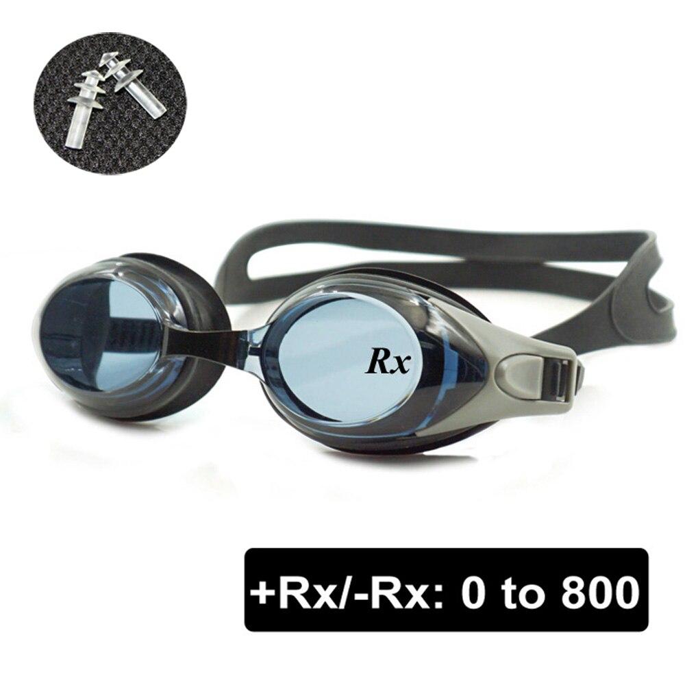 Optische Schwimmbrille + Rx-Rx Schwimmbrille Erwachsene Kinder Unterschiedliche Stärke Jedes Auge mit Ear Plugs