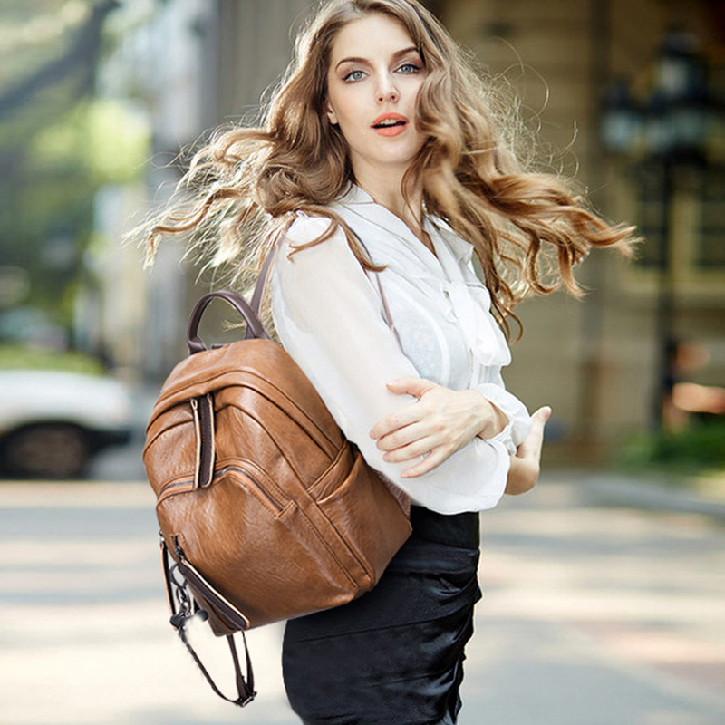 Mailaer 2019 New Chic Backpack Lightweight Spacious Casual Daypacks Soft Pu Leather Mini Cute Bag For Women Female Girls Ladies #4