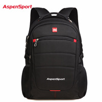 AspenSport Brand 15 6 Inch Waterproof Laptop Backpack For Men Women Luggage Travel Bags Sports Bag