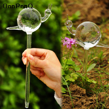 OnnPnnQ 2pcs/set Snail Shape Garden Sprinklers Glass Automati Garden Watering System Indoor Auto Drip garden Watering Sprinklers
