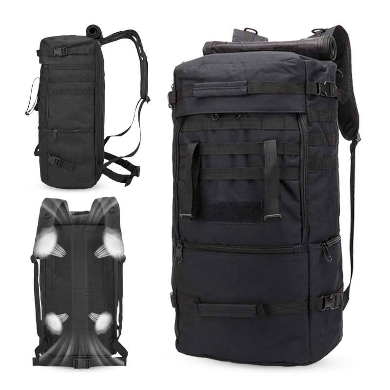 Large Outdoor Tactical Military Backpack Army 60L Capacity Waterproof Rucksack Camping Hiking Trekking Fishing Hunting Backpack