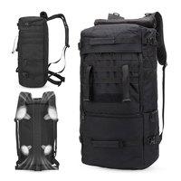 Large Outdoor Tactical Military Backpack Army 60L Capacity Waterproof Rucksack Camping Hiking Trekking Fishing Hunting Backpack