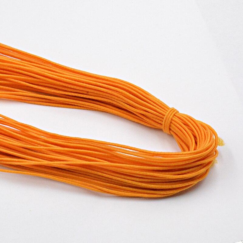Новинка 0,8 мм на выбор, 12 цветов, эластичная веревка, шнур, бисер, сделай сам, для изготовления ювелирных изделий, браслет и ожерелье - Цвет: Оранжевый