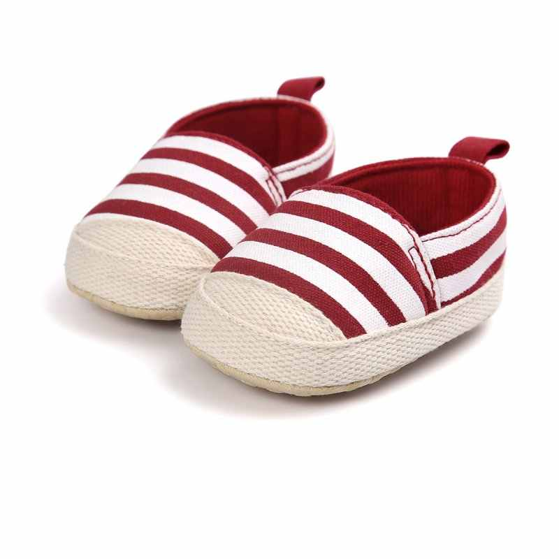 3421947f4260 ... 2018 Fashion Blue Striped Baby Boy Shoes Lovely Infant First Walkers  Good Soft Sole Toddler Baby ...