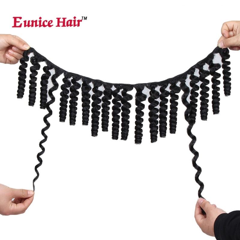 20 Eunice Hair Afro Kinky Curly Crochet Hair Weave Black Synthetic Weft Hair Extensions Kanekalon Hair Weavings 3 Packs/lot Hair Extensions & Wigs