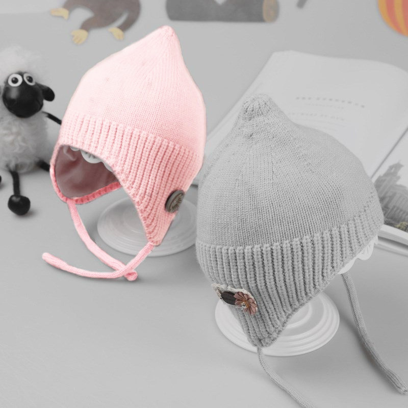 купить Cute Baby Hat Soft Cotton Newborn Baby Beanie Double Layer Warm Winter Hat For kids Girls Boys Knitted Kids Hats for 0-18M по цене 374.67 рублей