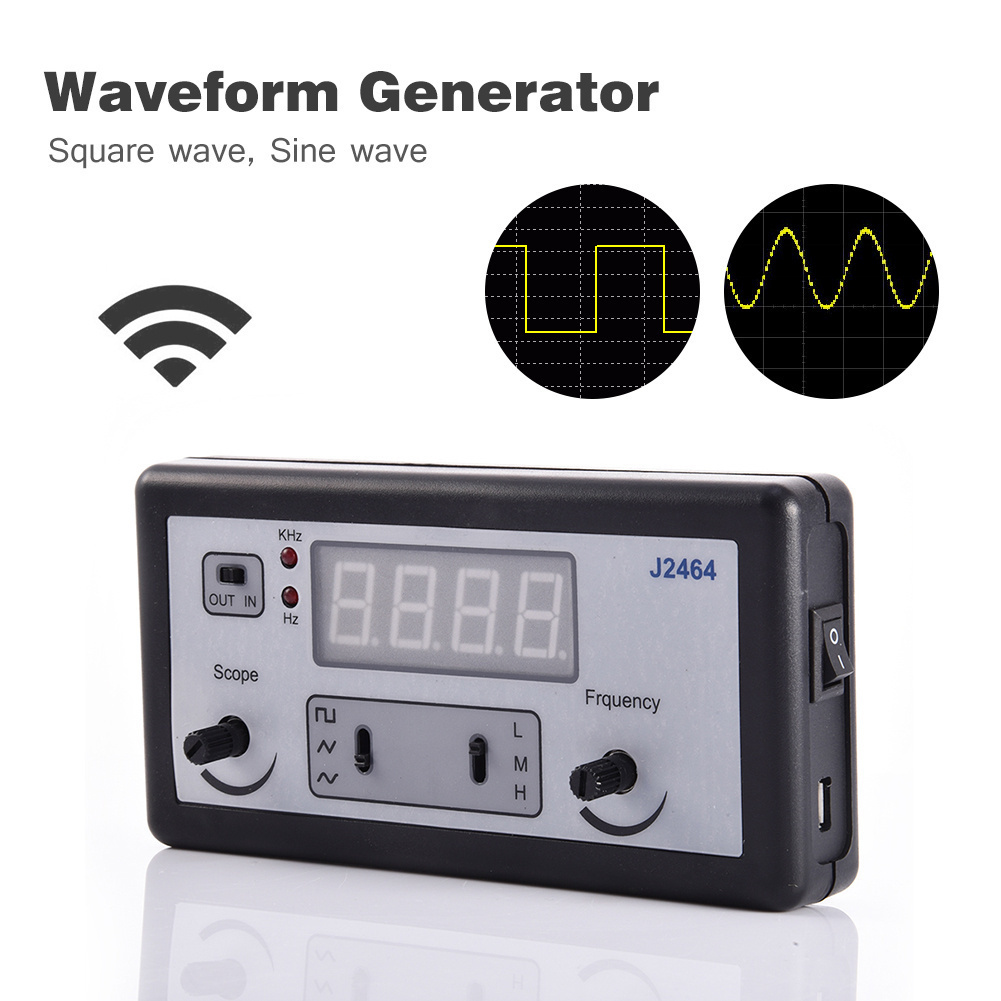 High Precision Signal Generator 4 Digital Tubes Function Generator Frequency Meter Arbitrary Waveform WG100 frequency meter digital high precision generator frequency meter digital 0 01hz 2 4ghz frequency counter hz tester analyzer