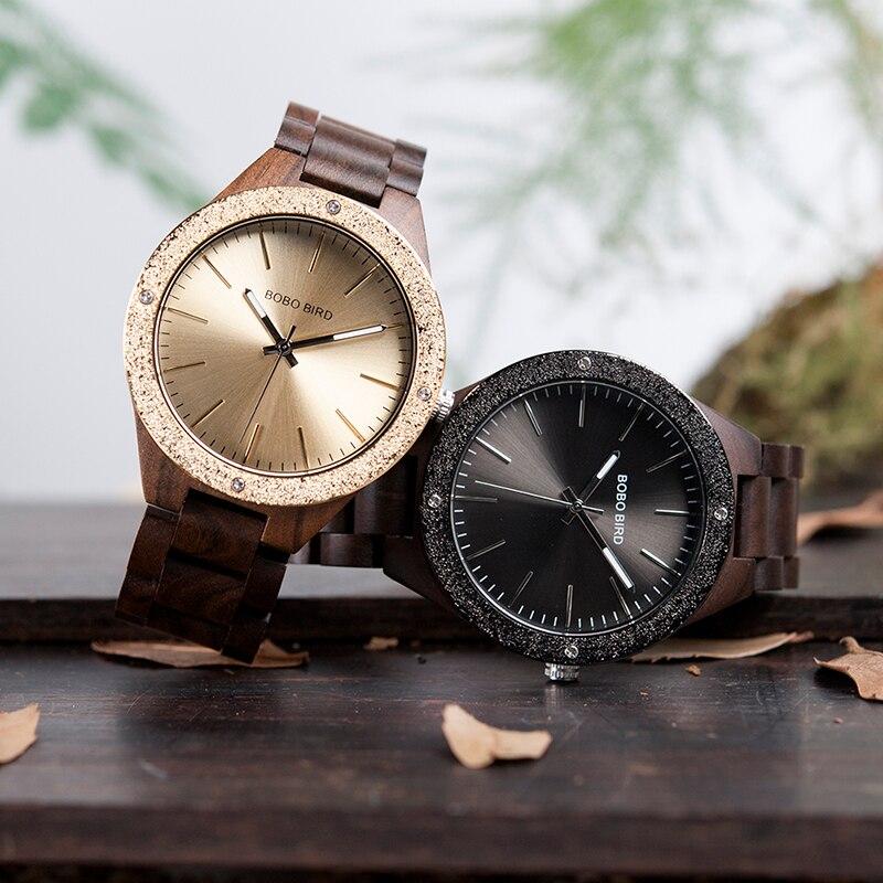 be90fdc245d BOBO Homens Relógio PÁSSARO de Bambu De Madeira WristwatchesMale kol saati  relojes hombre Com Links Em Caso de Madeira do Presente do logotipo  Personalizado ...