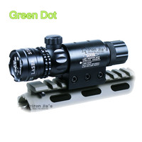 Tactical Green Dot Caza Mira Láser Rifle Dot Rifle Scope + Interruptor + Mounts Picatinny Rail + Barril/Airsoft pistola de Chasse Caza