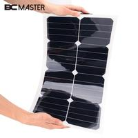 BCMaster 18V 25W Solar Power Panel Flexible Boat Car Vehicle Auto Solar Energy Battery Panel For Outdoor Activity