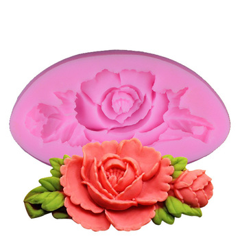 3D Rose Flower Silicone Mold For Cake Decorating Tools Bakeware Silicone Moulds For Baking DIY Soap Mould 1552