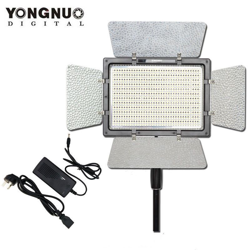 YONGNUO YN900 avec adaptateur secteur, YN-900 haut CRI 95 5500 K et 3200 K-5500 K LED panneau lumineux vidéo