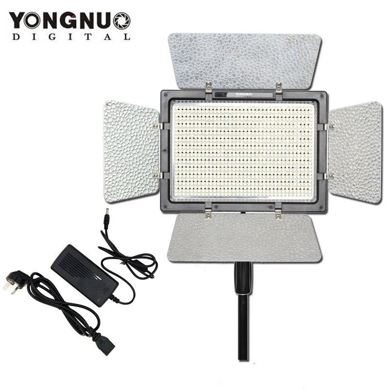 YONGNUO YN900 with AC Power Adapter,YN-900 High CRI 95 5500K and 3200K-5500K LED Video Light Panel yongnuo yn900 54w 900 led 3200k 5500k adjustable video light w filters black