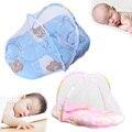Bebé de Insecto del Mosquito Cuna Cama Netting Canopy Cojín Colchón Infantil Bebé Mosquitera Cosió con Cojín Para Dormir Azul/Rosa