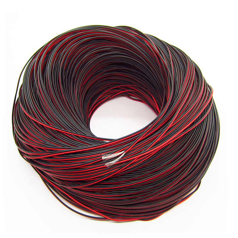 SIM/&NAT 33ft Red Black Hookup Wire 20 AWG Audio Cable 2 Conductor Electric Speaker Cable for Radios and Led Light Applications