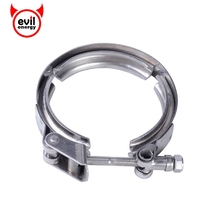 evil energy Universal 2.5Inch Stainless Steel Exhaust Turbo Downpipe V-Band Clamp Automobiles Accessories Customizalbe Fitment