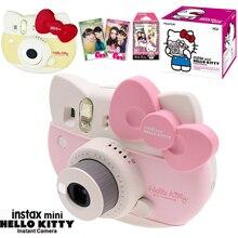 Fujifilm Instax מיני 8 הלו קיטי מוגבל מהדורה מיידי תמונה סרט מצלמה + 10 גיליון קיטי סרטים + מדבקות + רצועת תיבת סט